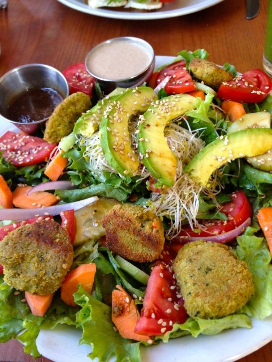 Falafel Salad at Media Naranja (Half Orange)