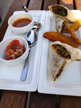 Flank Steak in Tortillas at the Rosewood