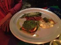 Salmon with Pesto Sauce at Cafe Rama