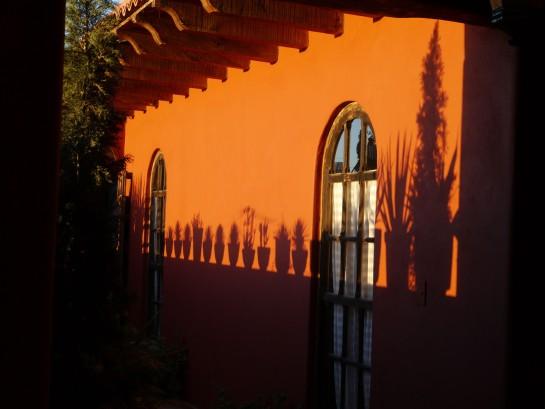Evening shadowplay at Casa Riba