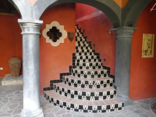 Stairway to 2nd Floor Terrace