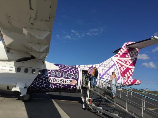 Connecting flight from Maui to Kailua-Kona
