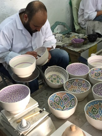 Painting the pottery